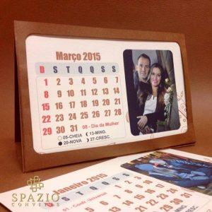 Calendario lembrancinha para casamento