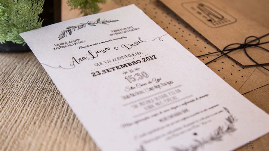 O que escrever no convite de casamento?