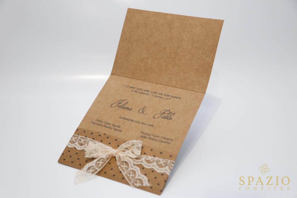 Convite de casamento r stico com renda spazio convites for Papel de pared rustico