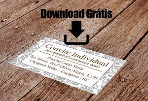 Convite individual para download