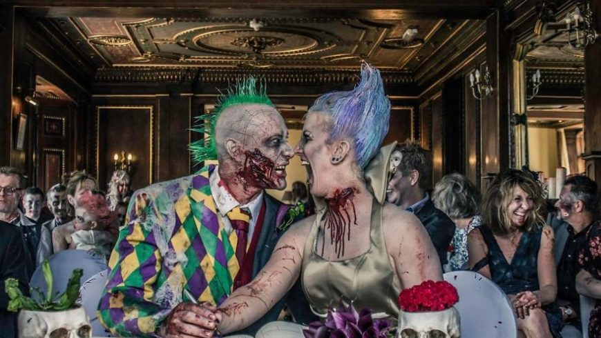 Casamento assustador no estilo The Walking Dead