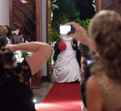 Fotos de celular no casamento