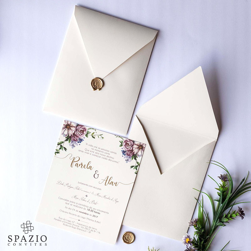 Convite de Casamento em Higienópolis