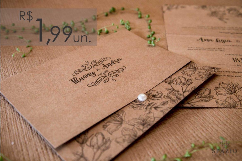 Convite de Casamento em Atibaia