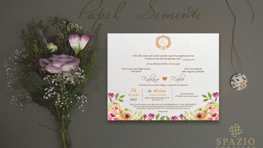 Papel Semente para convites de Casamento