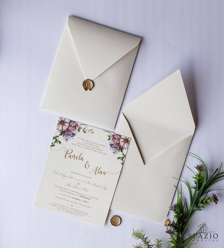 Convite de Casamento em  Nova Lima