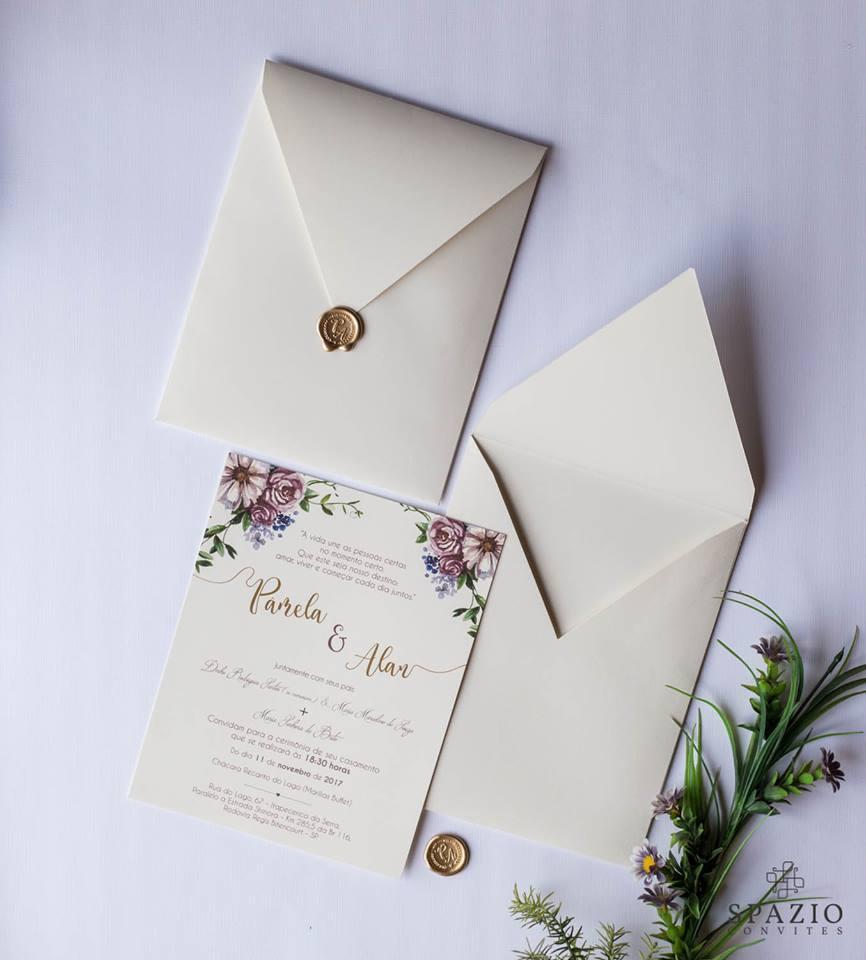 Convite de Casamento em Vinhedo
