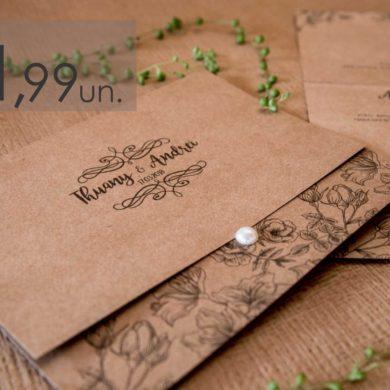 Convite de Casamento Rustico Virtual